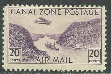 U.S. Possession Canal Zone Airmail stamp scott c11 - 20 cent issue - mlh - #9