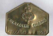 Grenadier Guards Regiment Brass Bed / Duty Foot Plate, 23004842 Sampson & Perm.