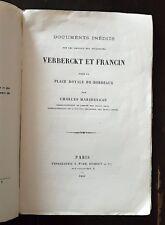 Travaux des sculpteurs VERBERCKT, FRANCIN pour la place royale de BORDEAUX 1883