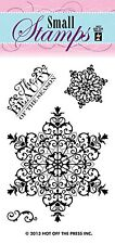 Snowflakes Small Stamp Set Winter Stamping Scrapbooking Card Making Hotp 1129