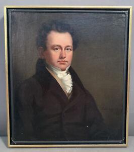 1826 Antique 19thC Distinguished GEORGIAN Era GENTLEMAN Oil PORTRAIT PAINTING