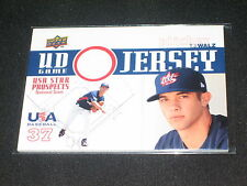 TJ WALZ TEAM USA LEGEND AUTHENTIC CERTIFIED GAME USED JERSEY BASEBALL CARD