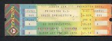 1978 Bruce Springsteen unused concert ticket Darkness Edge Of Town Princeton U.