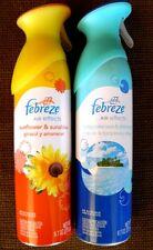 2 Febreze Turquoise Sea & Shimmer Sunflower & Sunshine Air Effects Freshener