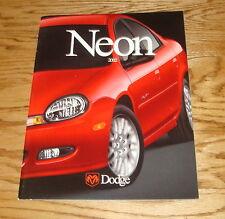 Original 2002 Dodge Neon Deluxe Sales Brochure 02