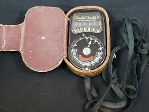 WESTON MASTER II Model 735. LIGHT, EXPOSURE METER W/ Leather CASE. vintage