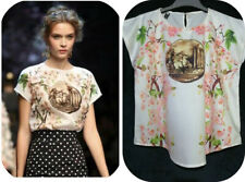 Coin Print And Cherry Blossoms Top
