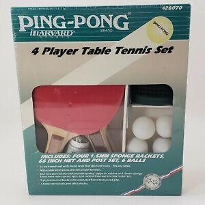 Harvard Sports Ping Pong Table Tennis Set Vtg Paddles Rackets Net Post Balls NIB