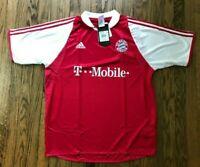NWT Adidas FC Bayern Munich Mens Short Sleeve Soccer Jersey Futbol Size XL