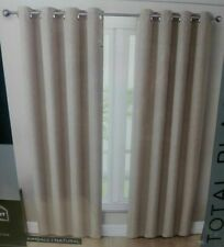 "Eclipse Absolute Zero 84"" Blackout Curtains, 2 Panels, Kimball Natural New"