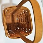 """Longaberger CLEARANCE PRICED Small Spoon Basket 1997 Stationary Handle 6""""H 5""""SQ"""