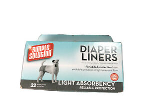 Simple Solution Dog Disposable Diaper Liners Light Absorbency 21 Count Diaper