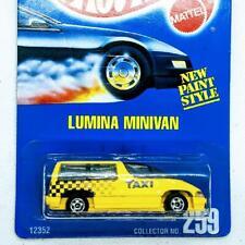 1991 Hot Wheels Blue Card Lumina Minivan Taxi Yellow w BW wheels New Sealed #259