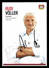 Rudi Völler AUTOGRAFO biglietto BAYER LEVERKUSEN 2015-16 ORIGINALE FIRMATO + a 126951