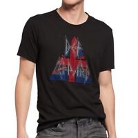 John Varvatos Men's Def Leppard Raw Edge Applique Graphic Crew T-Shirt Black