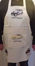 CLASSIC AMERICAN CAR COTTON APRON  EMBROIDERED FRONT  POCKET -  NEW WITHOUT TAGS