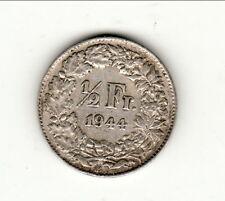 SUISSE 1/2 FRANCS  argent  1944  qualitè !!!