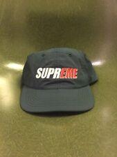 Supreme SS18 2-tone Nylon 6-panel SnapBack Cap Navy Green