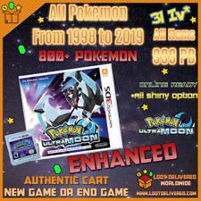 Pokemon Ultra Moon Unlocked & Enhanced All 807 Shiny Battle Ready Nintendo 3DS