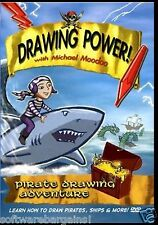 DRAWING POWER! With MICHAEL MOODOO:   PIRATE DRAWING ADVENTURE. DVD.  SHIPS FREE