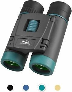 RONHAN 8X21 Binoculars Small Pocket Binoculars Mini Waterproof Folding - Green