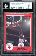 Michael Jordan Rookie Card 1986 Star #7 BGS 9 (8.5 9.5 9.5 9)
