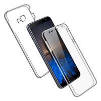 SDTEK Coque pour Samsung Galaxy J4+ Plus Silicone 360 Degres Protection
