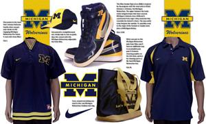 University of Michigan Nike Game Day Package-Vandal Shoes:13 M/2 Shirts/Hat//Bag