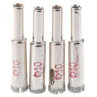 4 Pz diametro di 10mm foro sega rivestito di Diamante trapano Bit Marmo pia V0P5