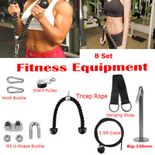 Workout Home Fitness DIY Equipment Pulley Cable Machine Arm Biceps Triceps Rope