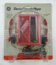 Sealed Vintage Red General Electric Stereo Headset Cassette Player 3-5460S