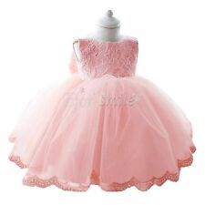 Lace Baby Princess Bridesmaid Flower Girl Tutu Dresses Wedding Formal Party