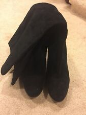 Steve Madden MANNTRA Suede Leather Tall Boots Women's Size 10