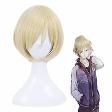 Yuri!!! on Ice Plisetsky Yuri Men's Blonde Short Straight Cosplay Full Wig