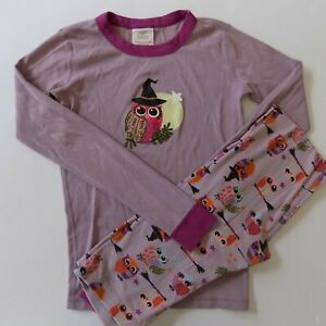 Hanna Andersson Girls Purple Halloween Witch Owls Pajamas Size 160  AS IS