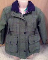 GIRLS WATERPROOF TWEED COAT NEW TOWN AND COUNTRYSIDE RIDING WALKING PRICE REDUCE