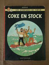 ALBUM HERGE TINTIN Coke en Stock B 36 (B36) 1967  Bon exemplaire
