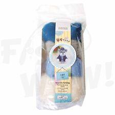 Daiso Japan Roving Wool Needle felting blue gray white