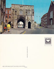 1970's WEST GATE & COUNTY BUILDINGS WINCHESTER HAMPSHIRE UNUSED COLOUR POSTCARD