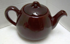 VTG Royal Canadian Art Pottery REDWARE Dripless Teapot Hamilton Ont. Dark Brown