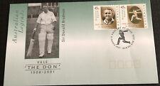 Australia Fdc 2001 Australian Legends Vale 'The Don' 1908-2001