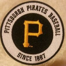 """Pittsburgh Pirates Baseball 3.5"""" Iron On Embroidered Patch"""