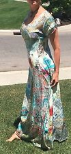 NEW/NWT Sundance Catalog Johnny Was Leyla Maxi Dress S 4/6 ret'l $387 pockets!