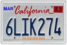 CALIFORNIA - JUMBO FRIDGE MAGNET - LICENCE PLATE UNITED STATES AMERICA CARS