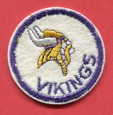 """Minnesota Vikings - Outlined in Purple - Round - 2 1/16"""" Embroidered Patch"""