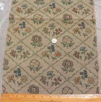 "Vintage c1938 French Cotton Botanical Jacquard Tapestry Sample Fabric~26""X12"""