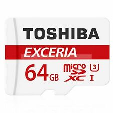 Toshiba Micro SDHC  64 GB Exceria Class 10 90MB/s Flash Memory Card  New ct