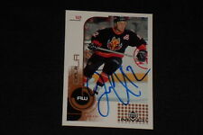 JAROME IGINLA 2002-03 UPPER DECK MVP SIGNED AUTOGRAPHED CARD #29 FLAMES