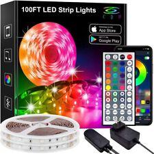LED Lights for Bedroom 100Ft LED Lights LED Strip Lights RGB 44-Key Remote
