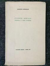 EUGENIO MONTALE POESIA E NON POESIA - Alberto Consiglio - ARARAT 1972
